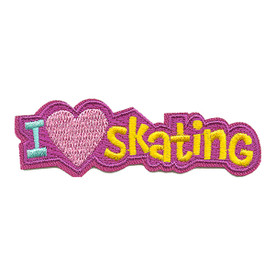 S-3284 I Love Skating Patch