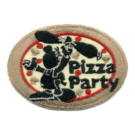 S-0238 Pizza Party - Oval Patch