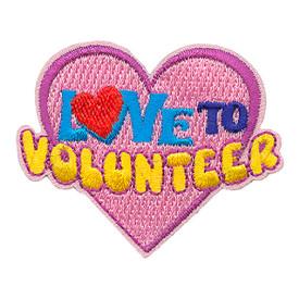 S-3364 Love To Volunteer Patch