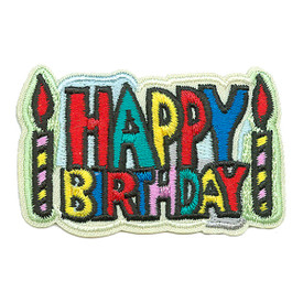 S-3436 Happy Birthday Patch