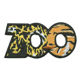 S-0247 Zoo (Word Animal Print) Patch