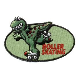 S-0248 Roller Skating - Dino Patch