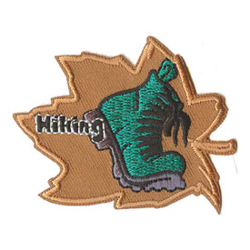 S-0249 Hiking- Leaf & Boot Patch