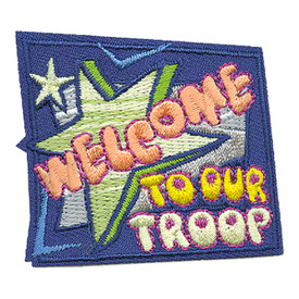 S-3589 Welcome To Our Troop Patch