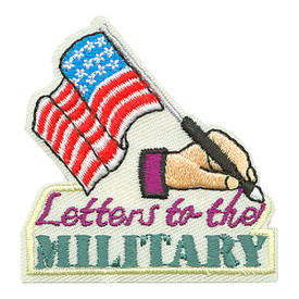 S-3652 Letters To The Military Patch