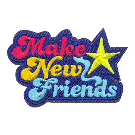 S-3682 Make New Friends Patch