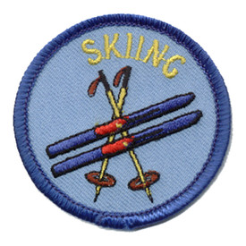 S-0278 Skiing (Ski & Poles) Patch