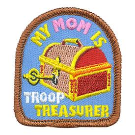 S-3895 My Mom Is Treasurer Patch