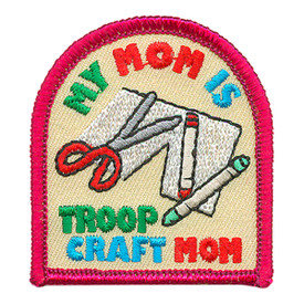 S-3898 My Mom Is Craft Mom Patch