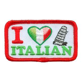 S-3907 I Love Italian Patch