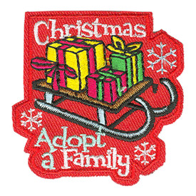 S-3918 Christmas Adopt A Family Patch