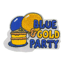 S-4144 Blue & Gold Party Patch