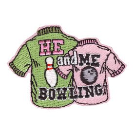 S-4148 He And Me Bowling Patch