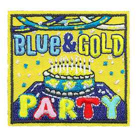 S-4151 Blue & Gold Patch