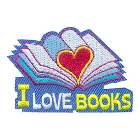 S-4200 I Love Books Patch