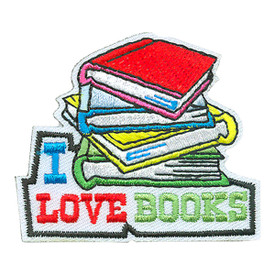 S-4210 I Love Books Patch