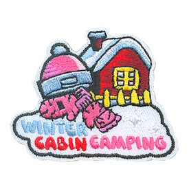 S-4270 Winter Cabin Camping Patch