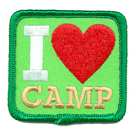 S-4280 I Love Camp Patch