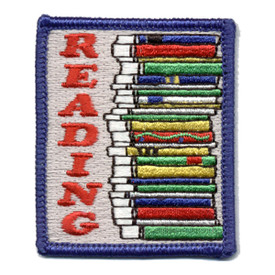 S-0343 Reading (Pile Of Books) Patch
