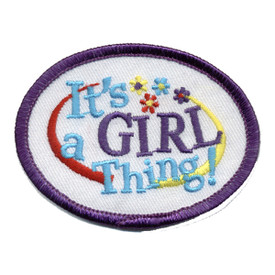 S-0347 It's A Girl Thing Patch