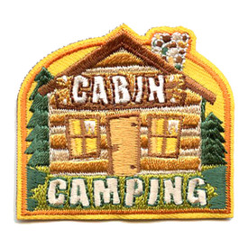 S-4341 Cabin Camping Patch