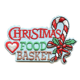 S-4424 Christmas Food Basket Patch