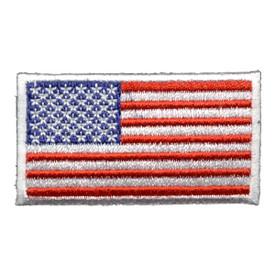 S-0365 US Flag/White 2.25 X 1.25