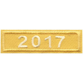 S-4445 2017 Gold Year Bar Patch