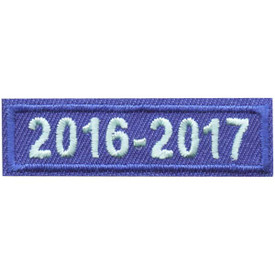 S-4452 2016-2017 Blue Year Bar Patch