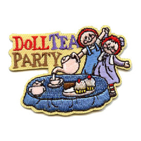 S-4461 Doll Tea Party Patch