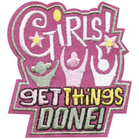 S-4485 Girls Get Things Done Patch