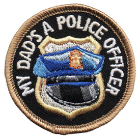 S-4620 My Dad - Police Officer Patch