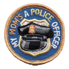 S-4624 My Mom - Police Officer Patch