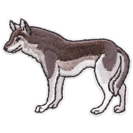 S-4664 Grey Wolf Patch