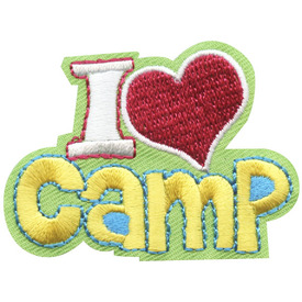 S-4700 I Love Camp Patch