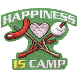 S-4701 Happiness Is Camp Patch