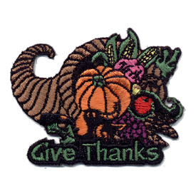 S-0410 Give Thanks - Cornucopia Patch