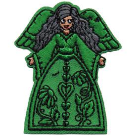 S-4837 Green Angel (Dark Hair) Patch