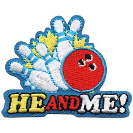 S-4863 He and Me! (Bowling) Patch