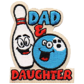 S-4885 Dad & Daughter (Bowling) Patch