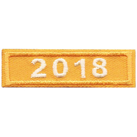 S-4888 2018 Gold Year Bar Patch