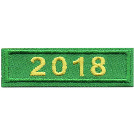 S-4891 2018 Green Year Bar Patch