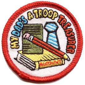S-4905 My Dad - Troop Treasurer Patch