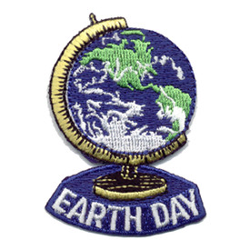 S-0433 Earth Day- Globe Patch