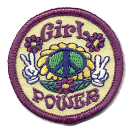 S-0435 Girl Power - Peace Signs Patch