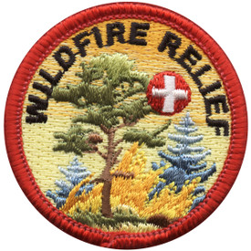 S-5029 Wildfire Relief Round Patch