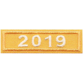 S-5044 2019 Gold Year Bar Patch