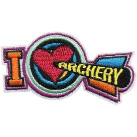 S-5103 I Love Archery Patch