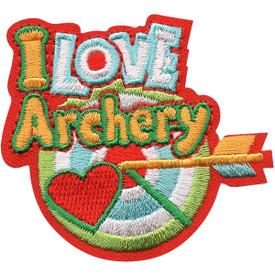 S-5113 I Love Archery Patch