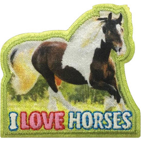 S-5118 I Love Horses Patch